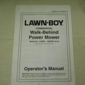Lawn-Boy Service Operator Manuals